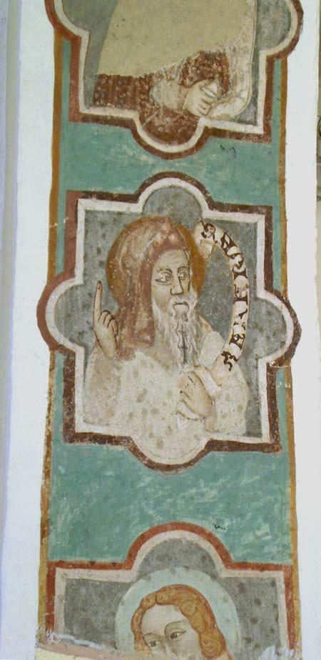 Hlavy prorokov na triumfálnom oblúku v kostole sv. Ladislava v Necpaloch