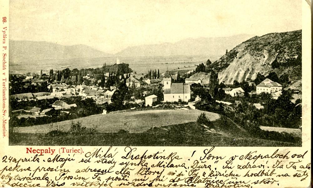 Pohľad na Necpaly - začiatok 20. storočia